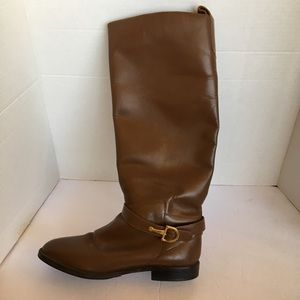 Nine West genuine leather brown tall boots size 9